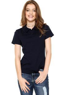 Camisa Polo Malwee Básica Azul-Marinho