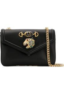 Gucci Rajah Medium Shoulder Bag - Preto
