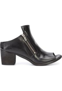 Officine Creative Ankle Boot De Couro 'Sabot' - Preto