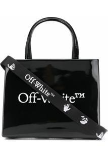 Off-White Bolsa Tote Pequena Com Estampa De Logo - Preto