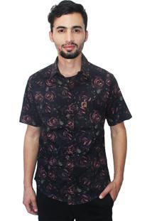 Camisa Camaleão Urbano Dark Roses Preta