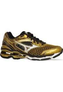 Tenis Mizuno Running Wave Creation 17 Golden Run Dourado