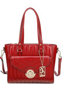 Bolsa Com Aviamentos E Bag Charm- Vermelha & Douradafellipe Krein