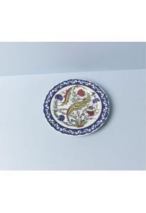 Prato De Sobremesa Cyragan Cor: Azul - Tamanho: Único