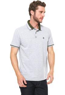 Camisa Polo John John Reta Vintage Cinza
