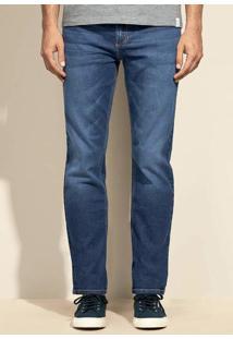 Calça Jeans Slim Masculina Hering Com Lavação Escura Eco Edition