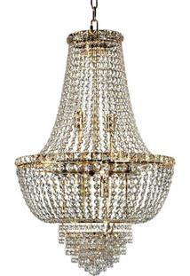 Lustre De Cristal Fontana Gemelli Dourado