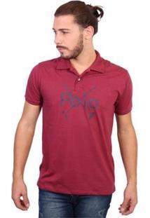 Camisa Polo England Polo Club Polos Masculina - Masculino-Vinho