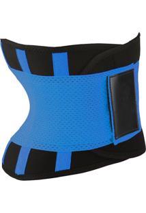 Cinta Modeladora Corpo Cintura Definida Efeito Térmico Modelo Anatômico Conforto Althor Azul Unissex