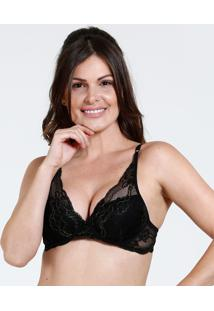 Sutiã Feminino Push Up Renda Lurex Marisa
