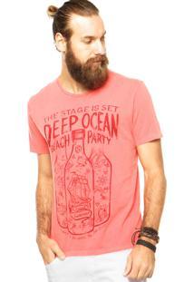 Camiseta Sommer Estampa Vermelha