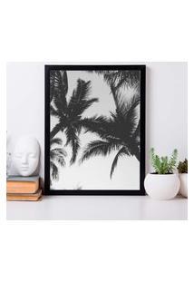 Quadro Decorativo Com Moldura Palm Preto - 20X25Cm