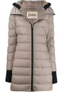 Herno Fitted Padded Jacket - Cinza