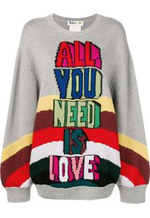 Stella Mccartney Suéter X The Beatles All You Need Is Love - Cinza