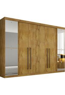 Guarda-Roupa Casal 6 Portas Com Espelho Coliseu - Novo Horizonte - Freijo Dourado