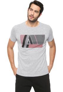 Camiseta Aramis Tipografia Cinza