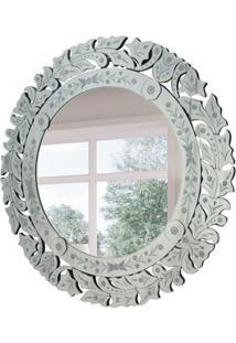 Espelho Decorativo Marco 90X90 Cm Prata