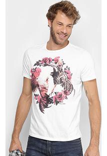 Camiseta Ellus 2Nd Floor Estampada Masculina - Masculino-Off White