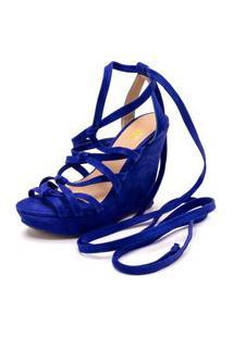 Sandalia Anabela Gladiadora Dia A Dia Ellas Online Azul