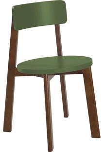 Cadeira Lina 75 Cm 941 Cacau/Verde Musgo - Maxima