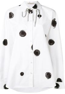 Christopher Kane Camisa Com Estampa De Poás - Branco
