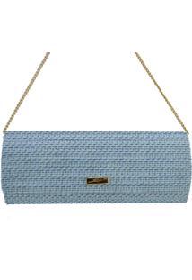 Bolsa Clutch Clara Edery Palha Azul