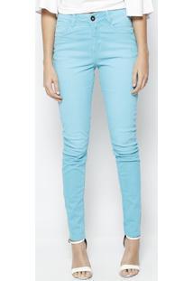 d801a5580 ... Calça Skinny Em Sarja- Azul Claro- Zincomorena Rosa