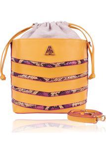 Bolsa Campezzo Bucket Bag Amarela