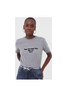 Camiseta Colcci Wmn Pwr Cinza