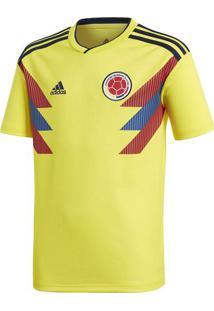 Camisa Colômbia I Boys - Amarela & Vermelha - Adidasadidas