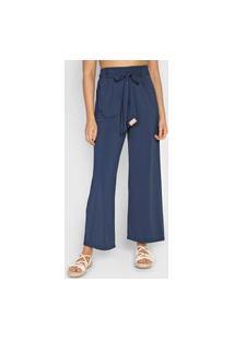 Calça Salinas Pantalona Amarração Azul-Marinho