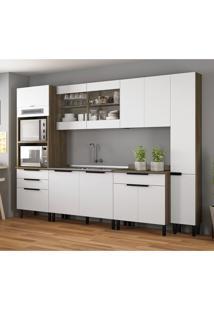 Cozinha Compacta Itamaxi 11 Pt 1 Gv Branca E Castanho