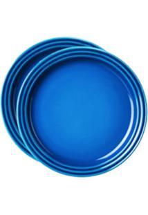 Prato Sobremesa 15 Cm 2 Peças Azul Marseille Le Creuset