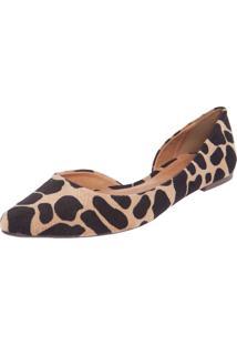 Sapatilha Dafiti Shoes Recorte Bege