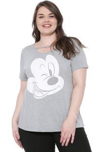 Blusa Cativa Disney Plus Mickey Cinza
