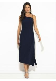 Vestido Midi Miragem Azul Marinho