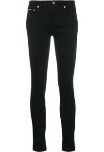 Dolce & Gabbana Calça Jeans Skinny Cintura Média - Preto