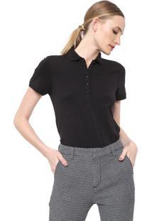 Camisa Polo Dudalina Lisa Preta