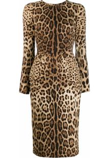 Dolce & Gabbana Vestido Animal Print - Neutro