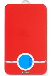 Balança Digital Para Cozinha Vermelha Brabantia