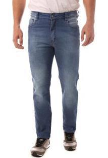 Calça Jeans Denuncia Slim Fit Masculina - Masculino-Azul