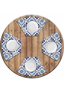 Jogo Americano Para Mesa Redonda Wevans Blue Kit Com 4 Pçs Love Decor - Kanui
