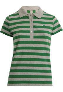 13775fc910 Camisa Pólo Listras Pique feminina