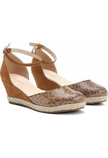 Sandália Shoestock Espadrille Bordado Onça