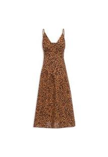Vestido Midi Mar De Oncinha - Animal Print