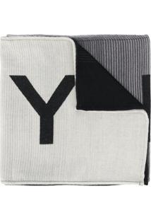 Givenchy Cachecol Jacquard Com Logo - Cinza