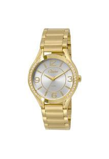 Relógio Feminino Condor Analógico + Brinco + Colar - Co2035Krgk4B Dourado