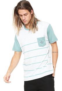 Camiseta Quiksilver New Stripes Cinza