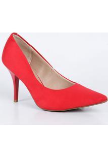 b2fe662897 Scarpin Beira Rio Vermelho feminino