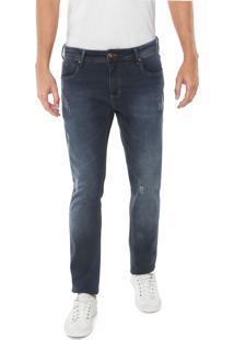 Calça Jeans Forum Slim Gilmar Azul-Marinho